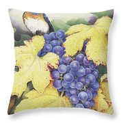 Vineyard Blue Throw Pillow