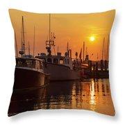 Vineyard Haven Harbor Sunrise II Throw Pillow