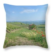 Vineyard In Italy Throw Pillow