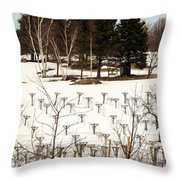 Vineyard In The North Throw Pillow