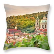 Vineyard Of Prague Throw Pillow