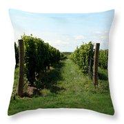 Vineyard On The Peninsula Throw Pillow