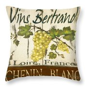 Vineyard Red Wine Sign Throw Pillow by Grace Pullen