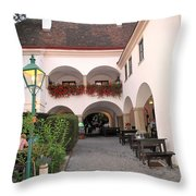 Vineyard Restaurant Throw Pillow