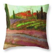 Tuscany Vineyard Throw Pillow