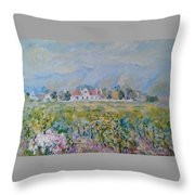 Vineyards At Excelsior In Summer Throw Pillow