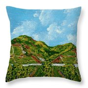 Vineyards Of The Wachau Valley Throw Pillow