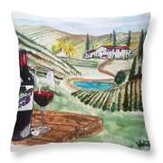 Vineyards Of Tuscany  Throw Pillow