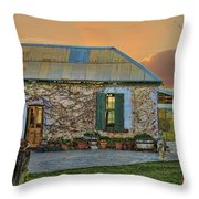Vino Cottage Throw Pillow