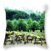Vino Palmetto Throw Pillow