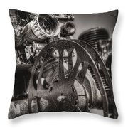 Vintage 16mm Throw Pillow by Scott Norris