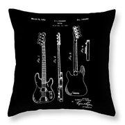 Vintage 1953 Fender Base Patent Throw Pillow