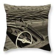 Vintage 1958 Chris Craft Utility Boat Throw Pillow