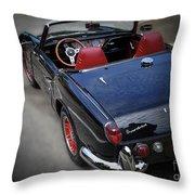 Vintage 1966 Triumph Spitfire Throw Pillow