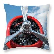 Vintage Aa Propeller Throw Pillow