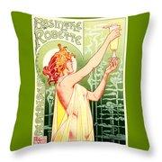 Vintage Absinthe Robette Poster Throw Pillow