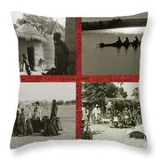 Vintage African Images Throw Pillow by Yali Shi