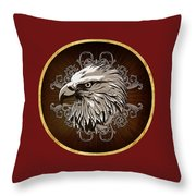 Vintage American Bald Eagle Throw Pillow