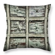Vintage Apothecary Drawers Throw Pillow