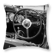 Vintage Aston Martin Dashboard Throw Pillow