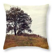 Vintage Autumn Throw Pillow