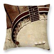 Vintage Banjo Barn Dance Throw Pillow