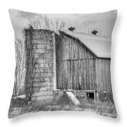 Vintage Barn Throw Pillow