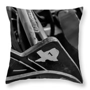 Vintage Baseball Chairs Throw Pillow