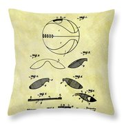 Vintage Basketball Patent Throw Pillow