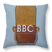 Vintage Bbc Mic Throw Pillow