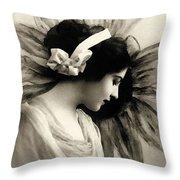 Vintage Beauty Throw Pillow