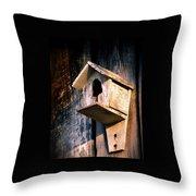 Vintage Birdhouse Throw Pillow