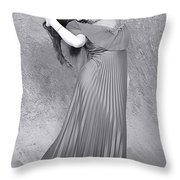 Vintage Black And White Throw Pillow
