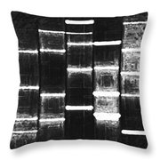 Vintage Black Throw Pillow