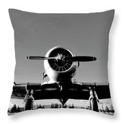 Vintage Bomber Throw Pillow