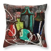 Vintage Bottles  Throw Pillow