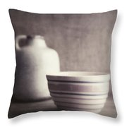 Vintage Bowl With Jug Throw Pillow