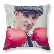 Vintage Boxers Throw Pillow