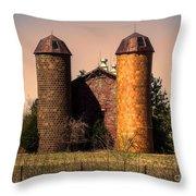 Vintage Brick Barn Throw Pillow
