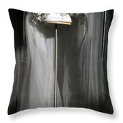 Vintage Bridal Veil Throw Pillow