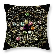 Vintage Brooch Throw Pillow