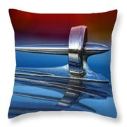 Vintage Buick Hood Ornament Throw Pillow
