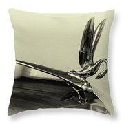 Vintage Cadilac 62, Hood Ornament Throw Pillow