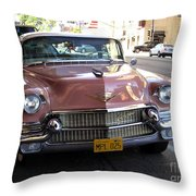 Vintage Cadillac. Luxury From The Past Throw Pillow