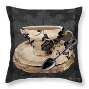 Vintage Cafe I Throw Pillow