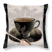 Vintage Cafe IIi Throw Pillow