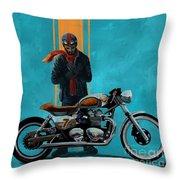 Vintage Cafe Racer  Throw Pillow