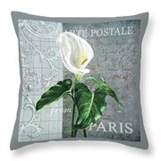 Vintage Calla Throw Pillow