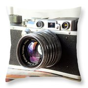 Vintage Camera C10a Throw Pillow