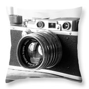 Vintage Camera C10b Throw Pillow